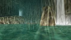 Ocarina of Time's Zora Cave Gets a Next-Gen Facelift Ocarina Of Times, Unreal Engine, Legend Of Zelda, Temple, Waterfall, The Past, Waves, Fantasy, Landscape