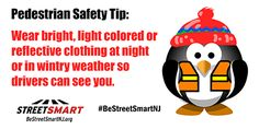 Winter Safety Tips from the Street Smart NJ pedestrian safety campaign #BeStreetSmartNJ