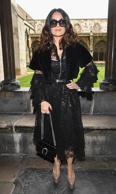 Runway ready! Although she didn't work the catwalk, Salma Hayek looked perfect for it during the Gucci Cruise 2017 fashion show in London.