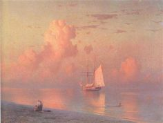 The sunset - Ivan Aivazovsky - Completion Date: 1866