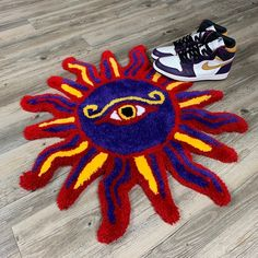 Funky Rugs, Custom Rugs, Punch Needle, Artist Art, Gun, Stamps, Carpet, Characters, Artists