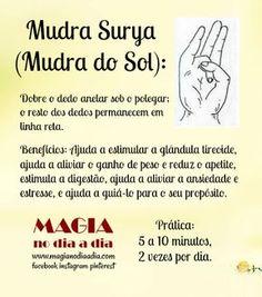 Magia no Dia a Dia: Mudra: Surya Reiki, Yoga Mantras, Chakra Meditation, Chakra Healing, Surya Namaskar, Mudras, Sup Yoga, Tantra, Wicca