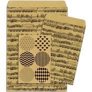 Bo Bunny Kraft Gift Bags Music Notes