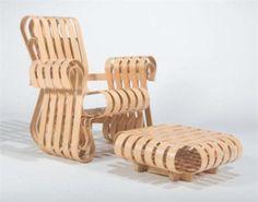 102. Powerplay chair-FG Diseñador: Frank O. Gehry
