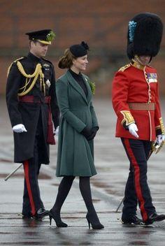 Duke and Duchess of Cambridge visit the Irish Guards at a St Patrick's Day parade