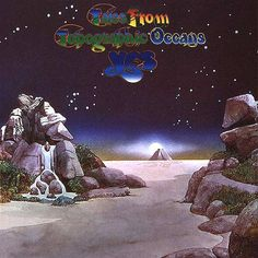 """Yes """"Tales from Topographic Oceans"""" Atlantic Records SD LP Vinyl Record Set, US Pressing Gatefold Album Cover Art & Design Roger Dean Yes Album Covers, Greatest Album Covers, Classic Album Covers, Music Covers, The Velvet Underground, Cover Art, Lp Cover, Atom Heart Mother, Storm Thorgerson"""