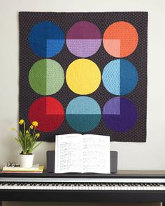 Jewel Box Quilt, by Modern Quilt Studio. As seen in Modern Quilts Illustrated, Issue #8. To find this issue, contact Modern Quilt Studio: sales@modernquiltstudio.com www.ModernQuiltStudio.com (708)445-1817
