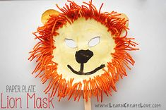Lion Mask Craft | LearnCreateLove.com