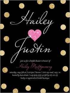 Sparkling Heart Bridal Shower Invitation