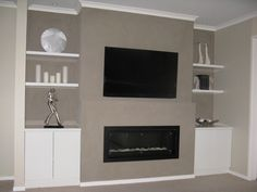 ethanol fireplace with tv above - Google Search