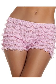 Ruffled Hot Pants. 4 Different Colours! - These soft polyester shorts but the cute in your costume. These booty shorts are a longer hot pants style. 7 inches long cover all the necessary bits you don't want to give out under your cute costume. They are stretchy and a one size fits most. Next valentine's day is a great occasion to wear these, or under your short costume skirt. #yyc #costume #legwear