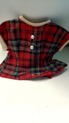 50's Vogue Jill red plaid blouse with org Vogue Tag on inside Great Condition in Dolls & Bears, Dolls, By Brand, Company, Character   eBay