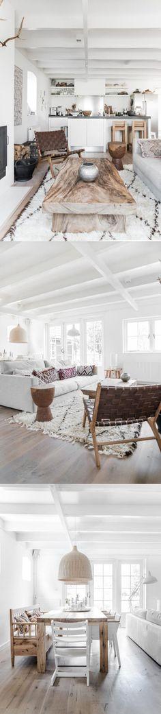 Reforma de un salón: Combinación de estilo escandinavo y Étnico / https://www.decoratualma.com/blog/