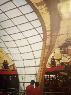 Frei Otto, przekrycie pawilonu wystawowego RFN na Expo '67 w Montrealu, 1965-1967