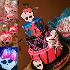 Monster high cake Monster High Birthday Cake, Monster High Cakes, Monster High Party, Monster High Dolls, Birthday Bash, First Birthday Parties, Birthday Party Themes, First Birthdays, Birthday Ideas