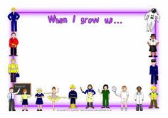 When I grow up/When I'm older... A4 page borders (SB3240) - SparkleBox