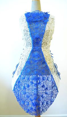 Incredible Dress 3D Printed With The 3Doodler Pen by Fashion House SHIGO http://3dprint.com/12194/shigo-3d-print-dress-3doodler/