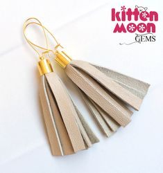 Check out these boho style tassel earrings now available in my Etsy shop. The leather has been recycled from a designer leather skirt. Great colour too that matches with everything!