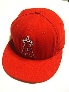 ANAHEIM ANGELS Hat 7 1 4 Red New Era 59Fifty Cool Base MLB Baseball Cap c3a9ac1b8