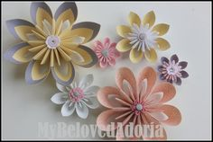 Baby girl nursery Wall Flowers decorations in by MyBelovedAdoria,