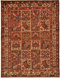 Bakhtyari Rug 4′ x 5'2″ 1