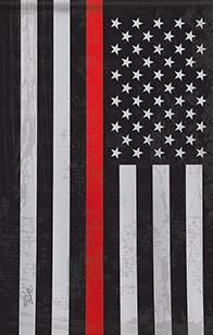 Firefighter Red Line Usa Flag 28x40 Firefighter American Flag Wallpaper Fire Painting