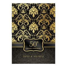 >>>Hello          Elegant Black & Gold 50th Wedding Anniversary Menu Invitation           Elegant Black & Gold 50th Wedding Anniversary Menu Invitation online after you search a lot for where to buyDeals          Elegant Black & Gold 50th Wedding Anniversary Menu Invitation Here...Cleck Hot Deals >>> http://www.zazzle.com/elegant_black_gold_50th_wedding_anniversary_menu_invitation-161004028734196551?rf=238627982471231924&zbar=1&tc=terrest