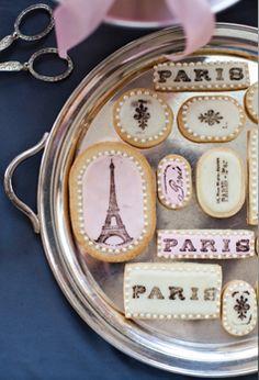 Paris themed table by Petit Gateau. Photo: Daniel Lailah
