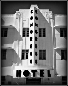 South Beach, what else? Miami, South Beach Art Deco Architecture. @Deidré Wallace  Iconic-but not a terrific experience.  Unless you don't need towels, then it would be ok... by MySoBe.com the website of South Beach!