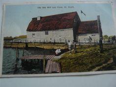 vintage used postcard old mill & pond st osyth essex postcard free uk pp Free Uk, Country Life, Worlds Largest, 1930s, Lantern, Pond, Saints, British, England