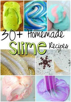 30+ Homemade Slime Recipes! a lot of slime!