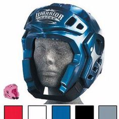 Macho Warrior Karate Sparring Head Gear Taekwondo Martial Arts. Mach Warrior Karate Sparring Head Gear. All Sizes and Colors.      Open face design for maximum peripheral vision.               Double overlay foam construction.                   Adjustable chin strap with hook and loop closure.                   Sizes: S, M, L or XL.                   Available in White, Black, Red, Blue Metallic and now Hot Pink.          Head Gear Sizing Chart         Size     Circumference       US…