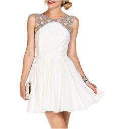 Promo-Fitzgerald White Prom Dress $29.90