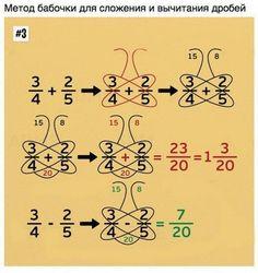 Nine simple math tricks you'll wish you had always known - Schmetterlingsmethode bei Add/Sub von Brüchen Nine simple math tricks you'll wish you had always - Math For Kids, Fun Math, Math Activities, Math Resources, Math Charts, Math Formulas, Math Strategies, Simple Math, Easy Math