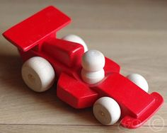 Wooden Toy, Wooden Car, Wooden Race Car, Formula Car Z409