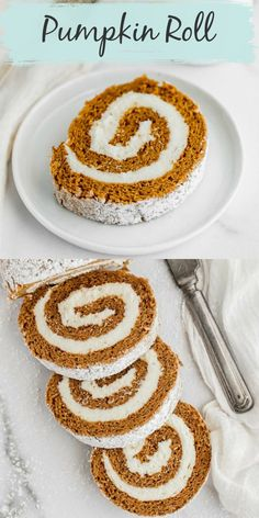 This classic easy homemade pumpkin roll recipe from Live Well Bake Often is easy to make! This decadent pumpkin roll is perfectly spiced and filled with a simple cream cheese frosting. This pumpkin roll is the perfect pumpkin dessert for fall! #pumpkindessertrecipe #fallbakingrecipe #classicpumpkinrollrecipe #dessertrecipe