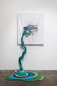 Plant Life Textile Art by Ana Teresa Barboza. The colorful embroidery thread often spills out from the confines of the embroidery hoop or canvas, illustrating the sprawling growth of the organic subjects.