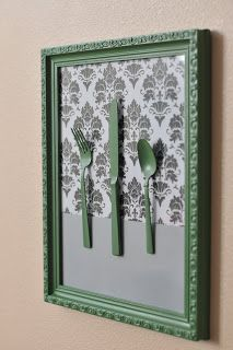 Kitchen Art - with kids silver spoons?