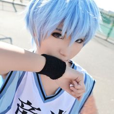 Basketball Kuroko Tetsuya Light Blue Short Straight Full Wig Hair Anime Cosplay