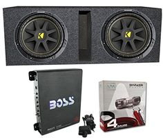 """2) Kicker 10C104 10"""" 600 Watt Car Subwoofers + Box + 1100W Amplifier + Wire Kit - http://www.caraccessoriesonlinemarket.com/2-kicker-10c104-10-600-watt-car-subwoofers-box-1100w-amplifier-wire-kit/  #10C104, #1100W, #Amplifier, #KICKER, #Subwoofers, #Watt, #Wire #3.-Electronics, #Car-Subwoofers"""