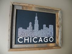 Chicago Skyline Word Art Print by fortheloveofmaps on Etsy, $22.00