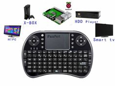 iPazzPort Raspberry pi Mini Wireless Handheld Remote Control Keyboard with Multi-Touch Touchpad Work for Android and Google Smart TV.