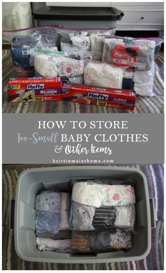How to Store Outgrown Baby Clothes Kristin Maier Home How to Store Outgrown Baby Clothes Kristin Maier Home KRISTIN MAIER HOME kristinmaierhome Organization How to Store Too-Small Baby nbsp hellip Old Baby Clothes, Baby Clothes Storage, Storing Baby Clothes, Baby Clothes Quilt, Baby Clothes Patterns, Sewing Patterns, Baby Storage, Mccalls Patterns, Storage Bins