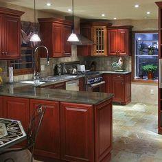 Cherry Kitchen Cabinets Black Granite my dream kitchenblack granite countertops with cherry wood