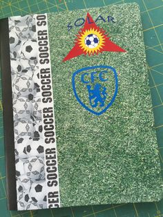 Solar Chelsea FC journal for my baby boy ⚽️ made the logos on my Silhouette Cameo