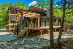 Cabin reno by Colin and Justin features Western Red Cedar deck and interiors. Large Gazebo, Hot Tub Gazebo, Cedar Deck, Small Modern Home, Modern Homes, Outdoor Spa, Cabin Interiors, Built In Bench, Western Red Cedar