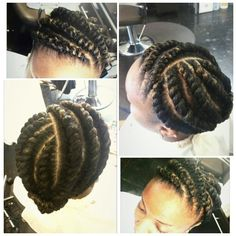 Flat Twist Style by The Artist - March 17 2019 at Natural Hair Flat Twist, Flat Twist Updo, French Twist Hair, Natural Hair Styles, Virtual Hairstyles, Twist Hairstyles, Down Hairstyles, Black Hairstyles, Latest Hairstyles