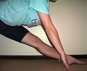 Stretching for the splits at your own pace - I'm going to get there!