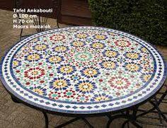Afbeeldingsresultaat voor mozaïek tafels