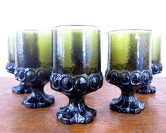 Gothic green vintage goblets
